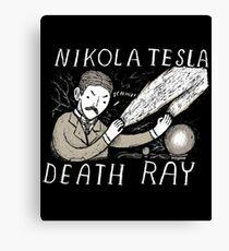 nikola tesla death ray Canvas Print