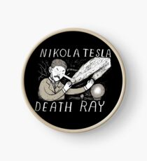 nikola tesla death ray Clock