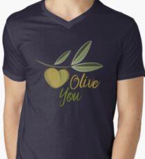 Olive You funny Graphic V-Neck T-Shirt