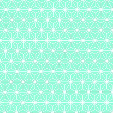 Aqua Geometric Flowers and Florals Isosceles Triangle by taiche