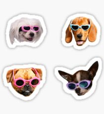 Pegatina Pegatinas Doggo: Gafas De Sol # 4