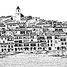 Calella de Palafrugell Black and White by sauldobney