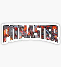 Pitmaster Funny Dad Grilling Grill Pitmaster BBQ Shirts for Men  Sticker