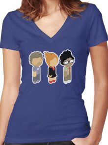 Roy Moss and Jen Women's Fitted V-Neck T-Shirt