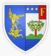 Coat of Arms of Menton, France Sticker
