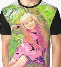 Girl drawn Art Graphic T-Shirt