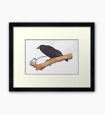 Hugin- raven Framed Print