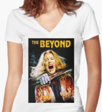 THE BEYOND Women's Fitted V-Neck T-Shirt