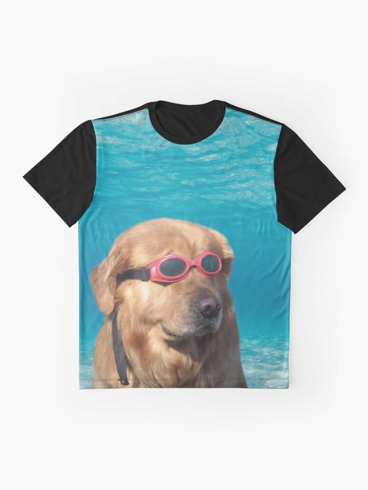 Vista alternativa de Camiseta gráfica Perro nadador