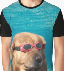 Camiseta gráfica Perro nadador