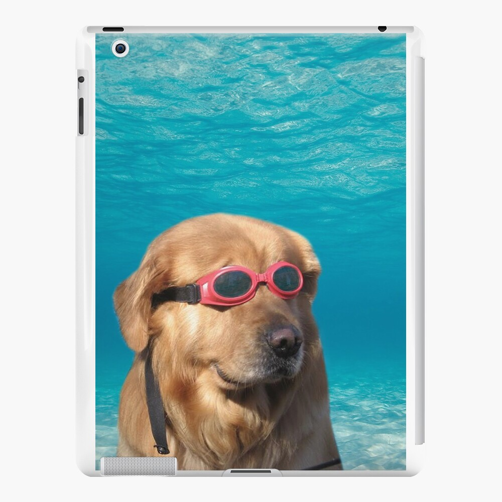 Swimmer Dog iPad Cases & Skins