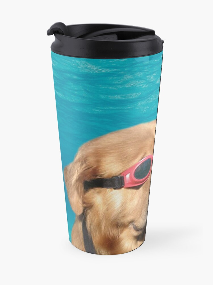 Alternate view of Swimmer Dog Travel Mug