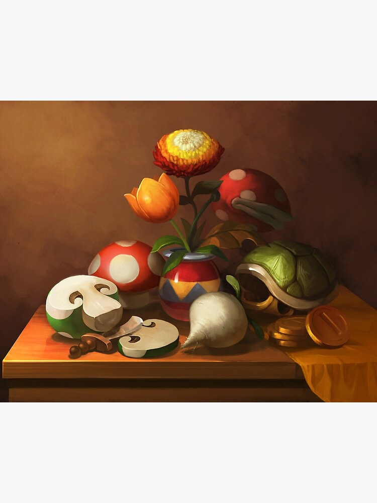 Mario Still Life by Lizustration