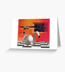 THE RED PORTAL with ALBINO BIRD Greeting Card