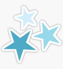 Star Set in Teal  Sticker