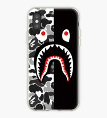 bape sark white  iPhone Case