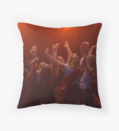 a graceful finale Throw Pillow