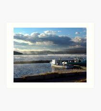 Morning at Margaree Harbour. Art Print
