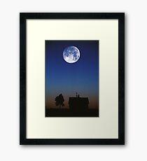 Nebraska Moon Framed Print