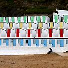 Newquay white beach huts by Woodie