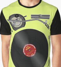 DJ Record Player Battle Position Graphic T-Shirt