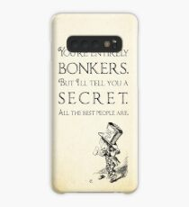 Alice in Wonderland Quote - You're Entirely Bonkers - Mad Hatter Quote 0110 Case/Skin for Samsung Galaxy