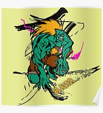 BLANKA FROM STREETFIGHTER SERIES Poster