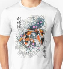 Thrashing Koi Slim Fit T-Shirt