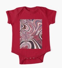 abstract UK fashion red white blue marble swirls One Piece - Short Sleeve