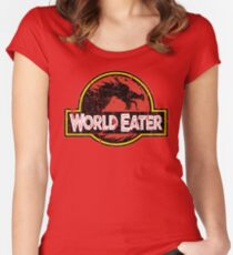 World-Eater Beware! Women's Fitted Scoop T-Shirt