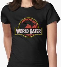 World-Eater Beware! Women's Fitted T-Shirt