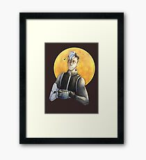 Shiro Space Dad (Watercolor) Framed Print