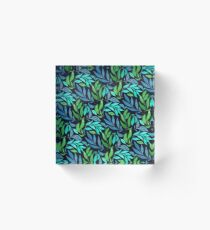 Loose Leaves - Cool Acrylic Block
