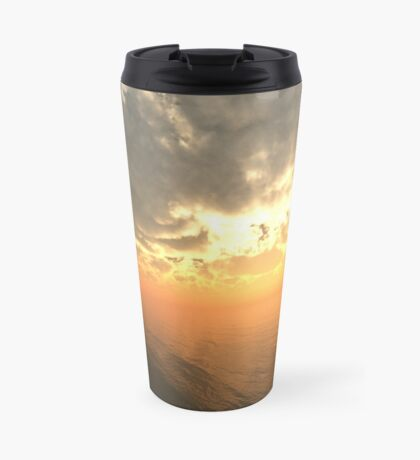 Cloudy Sunrise Over Water Travel Mug