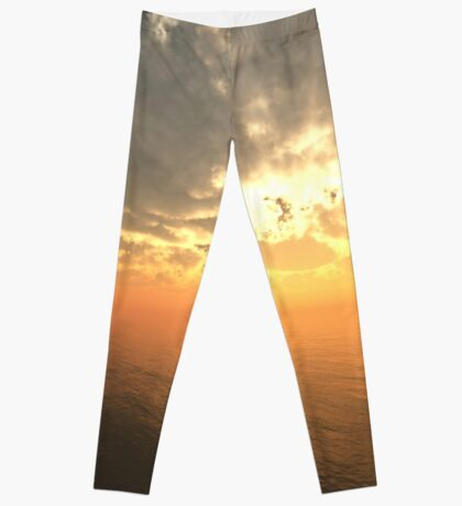 Cloudy Sunrise Over Water Leggings