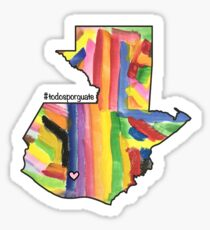 Todos Por Guatemala (All for Guatemala) Map Sticker