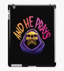 """Und er betet"" - Skeletor iPad-Hülle & Klebefolie"