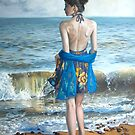 Woman on the Beach by Debbie Clark
