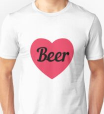 Beer Heart For On Valentines Day  Unisex T-Shirt