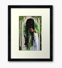 ♪Rastafari Under the Bamboo!♪  Framed Print