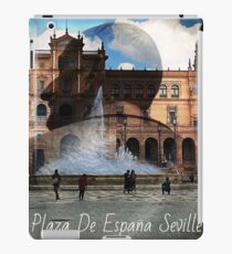 Plaza De España Seville - Text iPad Case/Skin