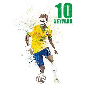 SPORTS ART #Brazil 10 on white by artpopop