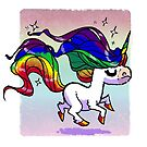 Pride Rainbow Unicorn by spiffy-keen