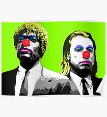 The clowns are coming to get you - Lime Poster
