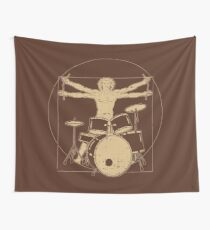 Vitruvian Drummer - Funny Music Gift Wandbehang