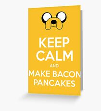 Make Bacon Pancakes Sticker Greeting Card