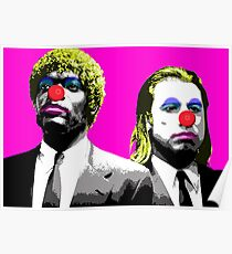 The clowns are coming to get you - Pink Poster
