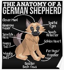 Anatomy Of A German Shepherd - Funny Dog Lover Gift Poster