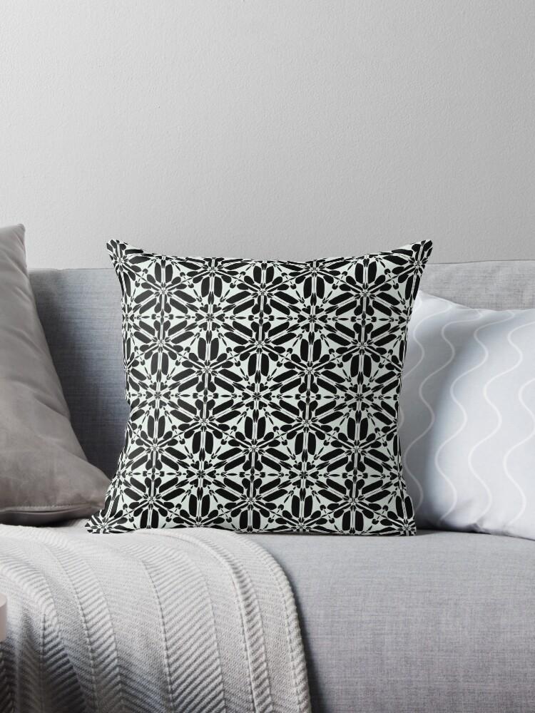 Kat Scratch Thorn Pattern • Black & White by ModOriginals