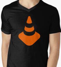 Traffic cone safety pylon Whitch hat marker Mens V-Neck T-Shirt